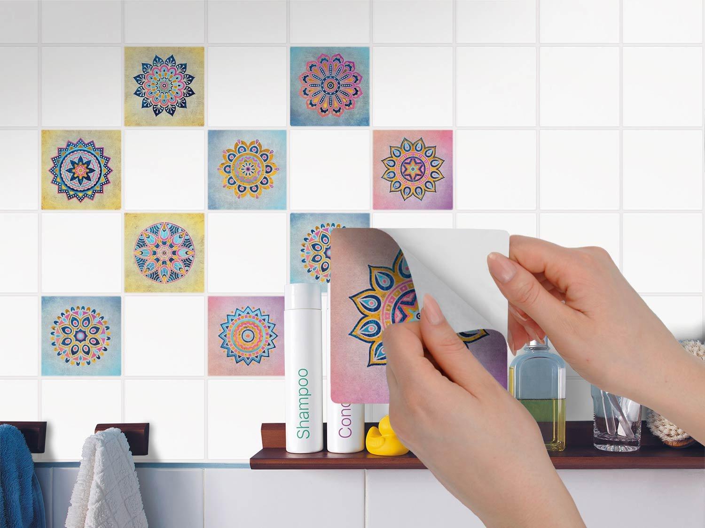 Deko Fliesen-Aufkleber | Mosaik-Fliesen Folie - Badezimmerfliesen ...