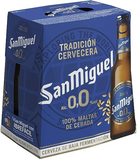 San Miguel 0,0 Cerveza Pilsner - Pack de 6 Botellas x 25 cl ...