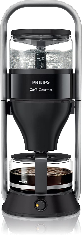 Philips Café Gourmet - Cafetera de goteo, color negro: Amazon.es ...