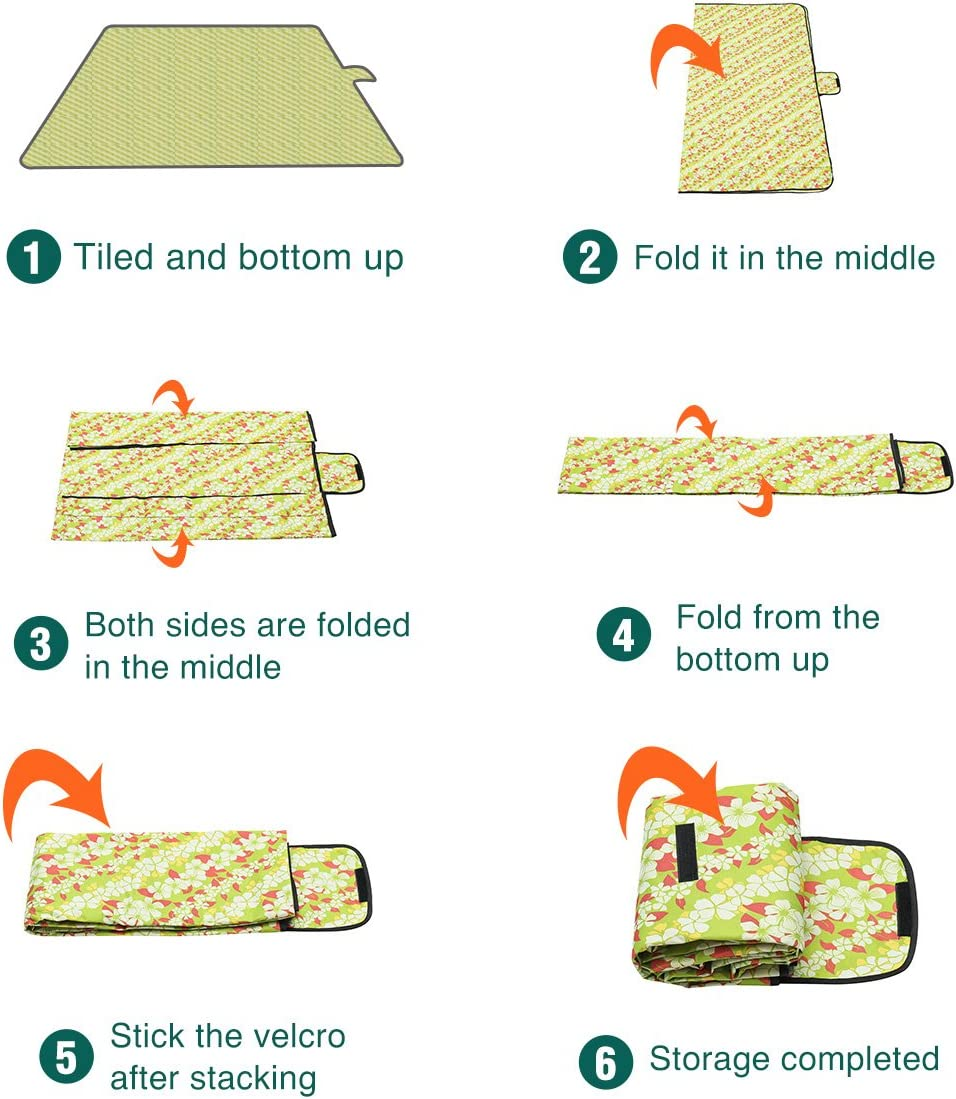 Tvird Picnic Mat Bottom Waterproof 22 Meter Shoulder Strap