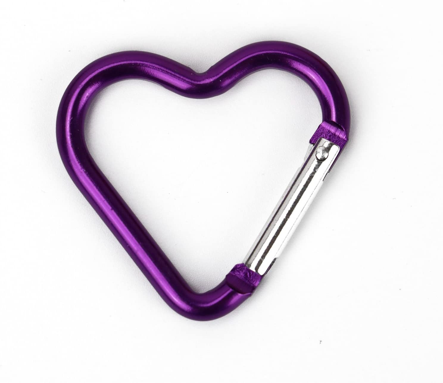 10 Pcs Heart Shaped Aluminum Alloy Keychain Clip Carabiner Snaphook Hook Holder Aluminum Heart Carabiner Hook Clip Key Holder Ten: Office Products