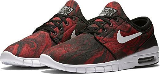 Amazon.com | Nike STEFAN JANOSKI MAX PRM mens skateboarding-shoes  807497-016_9 - BLACK/UNIVERSITY RED/WHITE | Fashion Sneakers