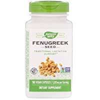 Nature's Way Fenugreek Seed 1,220 mg, Non-GMO Project Verified, TRU-ID Certified, Vegetarian, 180 Count, Pack of 2