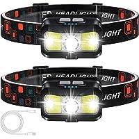 Headlamp Rechargeable, ALIPRET 1100 Lumen Super Bright Motion Sensor Head Lamp flashlight, 2-PACK Waterproof LED…