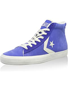 0cfd4825bf32 Converse Mens Pro Leather High Top Vulc Mid Dazzling Blu Suede Trainer