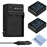 Powerextra 2 Pack Replacement Battery and Charger for Olympus BLH-1 Li-ion Battery and Olympus EM1 MARK II Camera