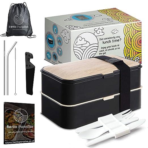 Bento lunch box Tupper Hermético para Niños y Adultos con ...