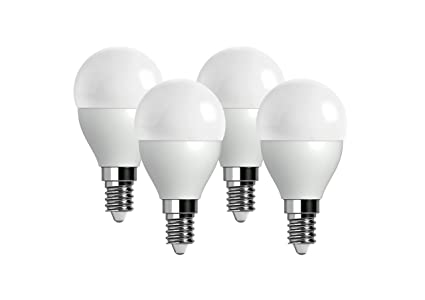 Pack de 4 Mini Bombillas LED 5W, color cálido 4000K, rosca E14 - equivalente