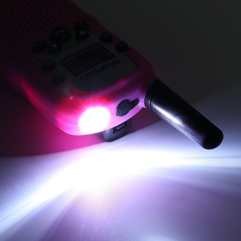 Amarillo, 8 Bater/ía Sigdio T-388 Walkie Talkie Ni/ños PMR 446 Walky Talky con Bater/ía Recargable y Cargador Walki Talki Funci/ón VOX 8 Canales 0,5 W pantalla LCD Walkie Talkie Recargable Ni/ños