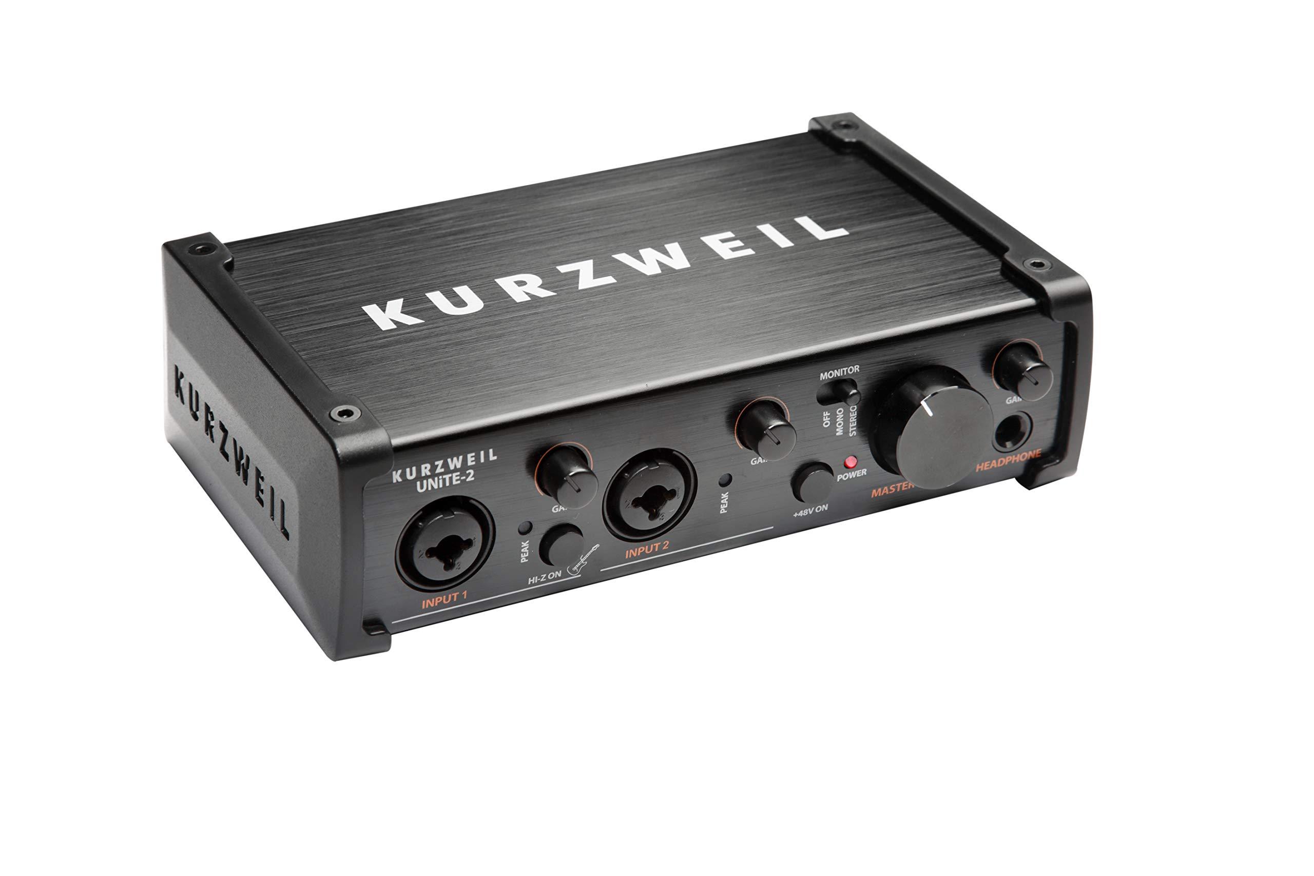 Kurzweil Music Systems Unite2 2-Channel USB Audio Interface (UNITE-2)