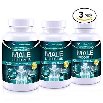 Male Libido Plus- Natural Testosterone Booster for Men with Maca, Ginseng, Sarsaparilla,
