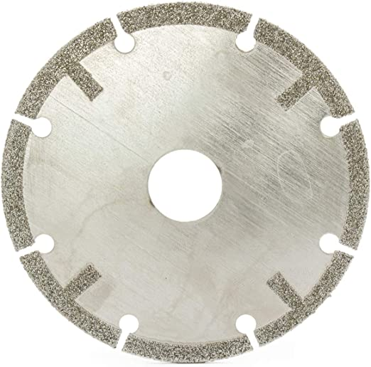 "4/"" inch 100mm Diamond Saw Blade Coated Tipped Cutting Disc Cut off Wheel Grit 60"