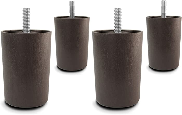 """3"""" Universal Brown Plastic Furniture Legs Sofa/Couch/Chair 5/16"""" - Set of 4"""