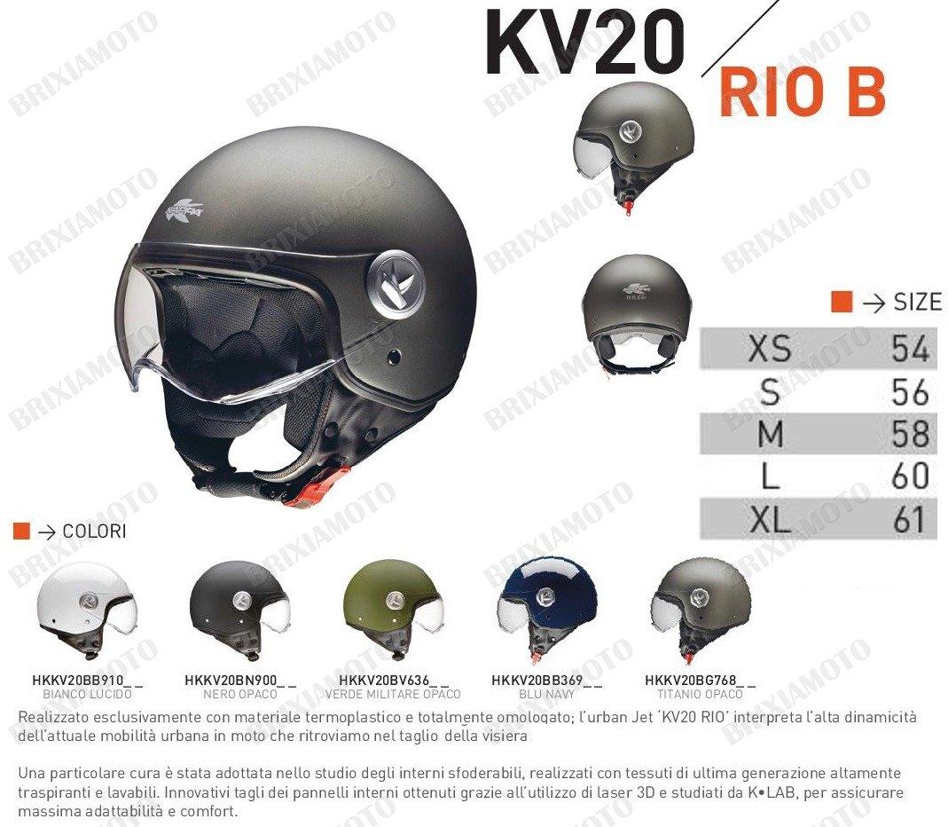 CASCO HELMET JET KV20 RIO  BLU KAPPA SIZE XL