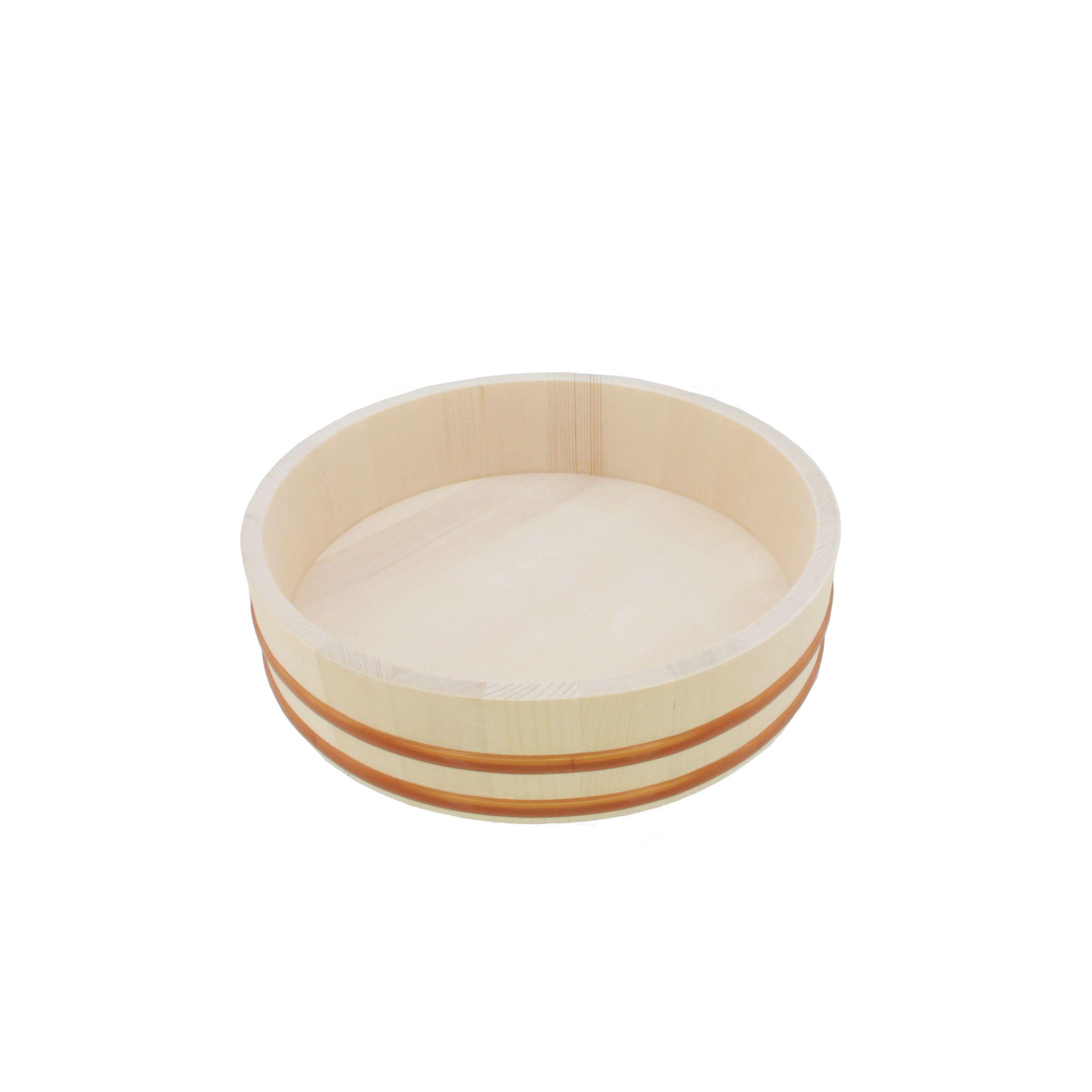 """BambooMN 12"""" Hangiri Sushi Oke Rice Mixing Tub, 1 Piece"""