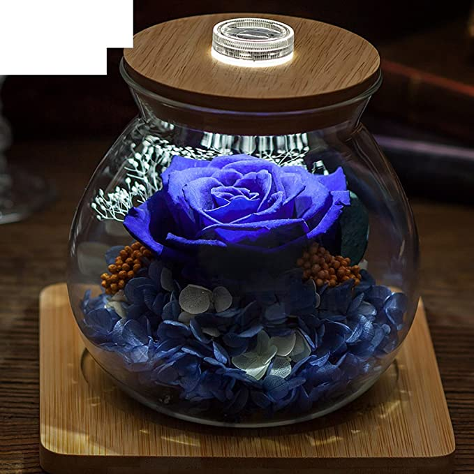 Amazon Com Glass Eternal Flower Gift Box Diy Rose Flower Ornaments