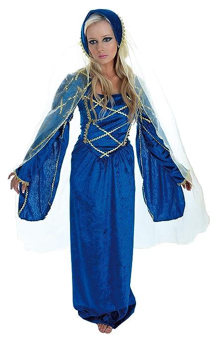 Adult Tudor Lady Fancy Dress Medieval Costume Uk 12,14
