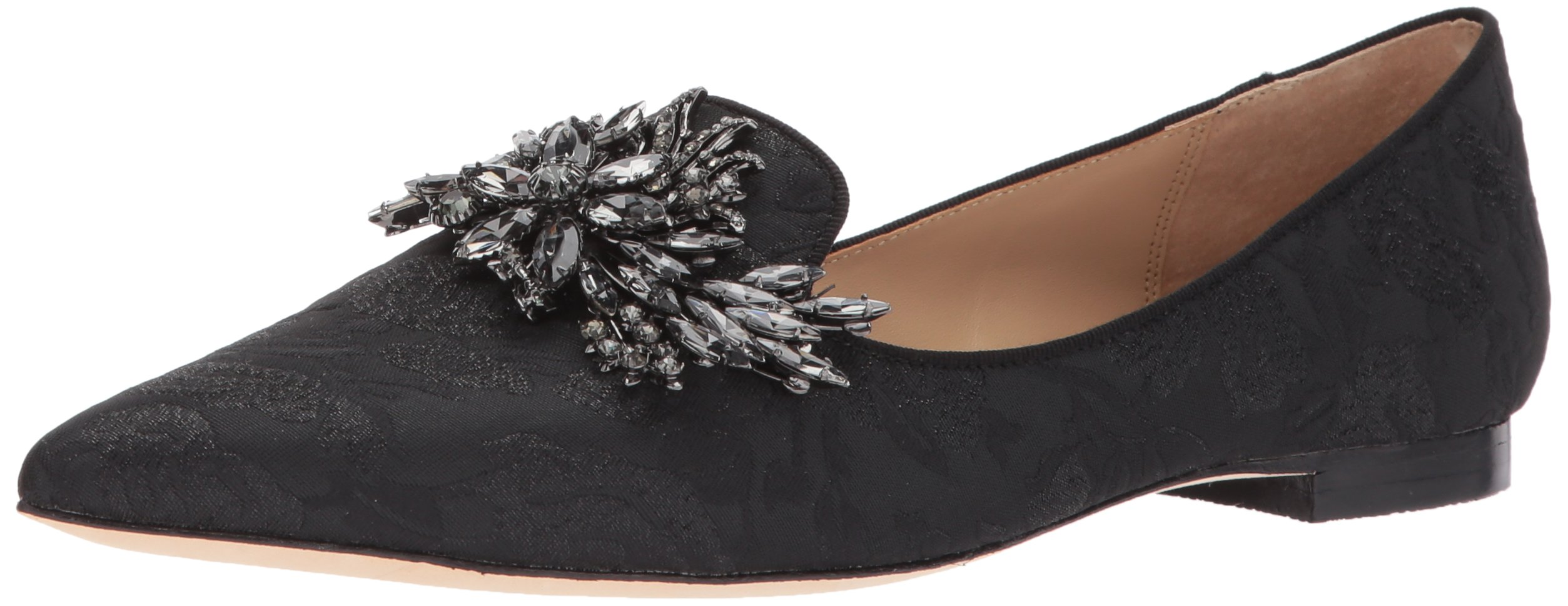 Badgley Mischka Women's Mandy Loafer Flat, Black, 6.5 M US