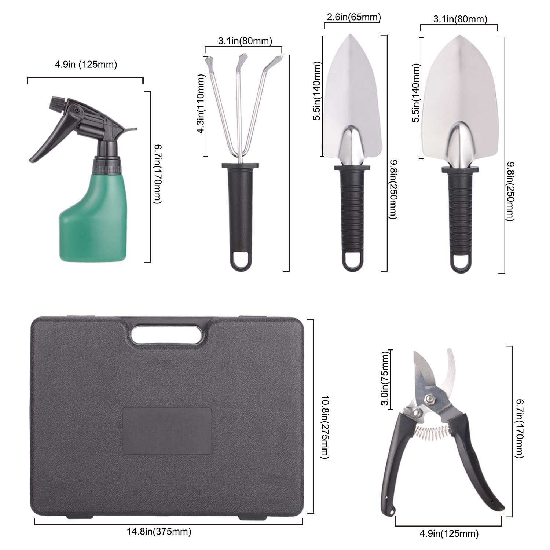 Amazon.com: BYUEE Juego de herramientas de jardinería, 12 ...