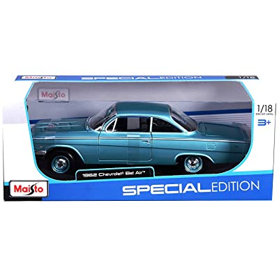 Maisto 1:18 Scale 1962 Chevy Bel Air Diecast Vehicle (Colors May Vary): na: Toys & Games