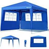Deuba Pabellon de Jardin cenador Capri Azul 3x3 m Carpa Plegable de jardín Impermeable y Pop Up para Eventos Camping: Amazon.es: Jardín