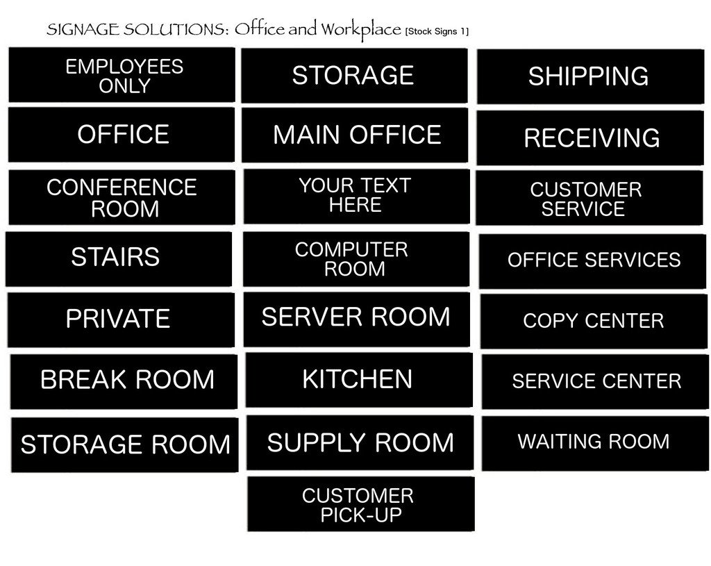 SIGNAGE SOLUTIONS // Wall or Door Sign // ''Main Office'' Engraved Office and Workplace Signs // 2'' x 8'' // Available in 13 Exciting Color And Finish Combinations!