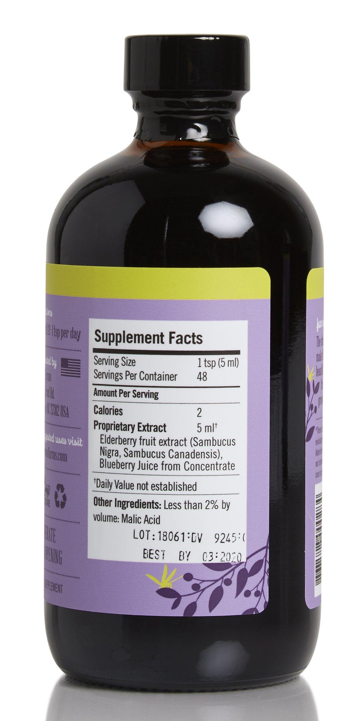 Norm's Farms Children's Formula Black Elderberry Extract & Blueberry Juice 8 Ounce Bottle, Pack of 2