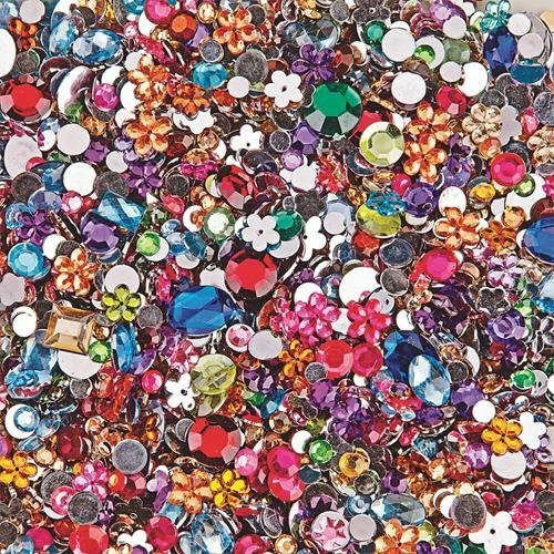 S&S Worldwide Faceted Acrylic Gemstones, 1/2 Lb. (Bag of -