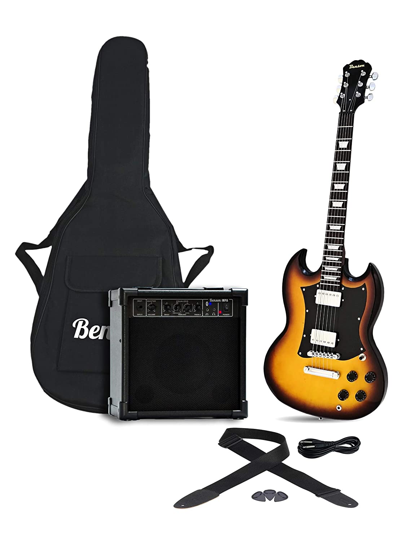 Benson SG Vintage Sunburst electric package + MPA 20 WATT'Bluetooth' guitar amplifier