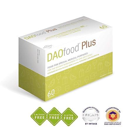 DAOfood Plus - Tratamiento del déficit de DAO - 60 Cápsulas con Pellets Gastrorresistentes