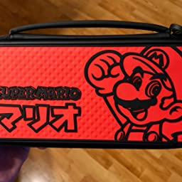 Amazon Com Customer Reviews Nintendo Switch Mario Kana Deluxe Slim Travel Case For Console And Games By Pdp