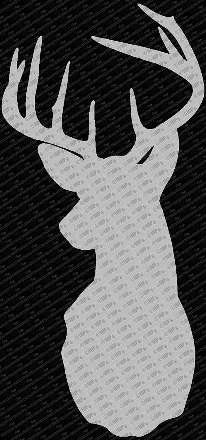 Amazon.com: Hunting Buck Head Silhouette Vinyl Die Cut Decal (6