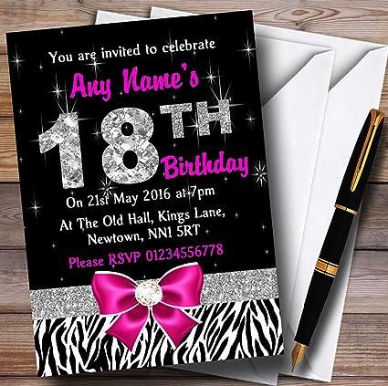 Invitaciones Para Cumpleaños Número 18 Diseño De Diamante