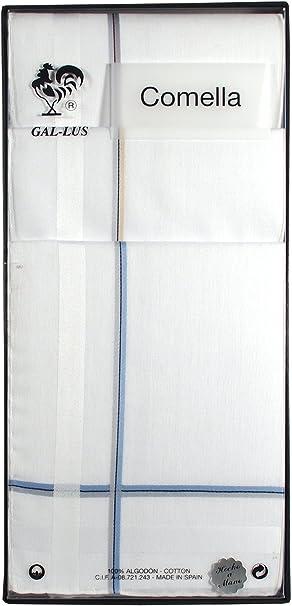 Gal-lus C-1164C/6 algodón, Blanco con satenes de color, Tamaño del ...
