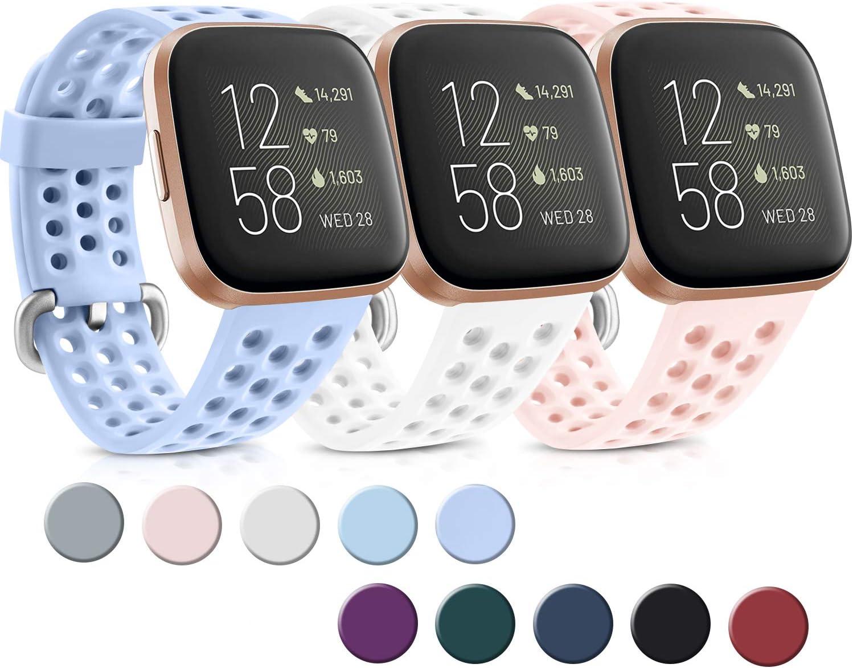 Yandu - Pack de 3 pulseras compatibles para Fitbit Versa Fitbit ...