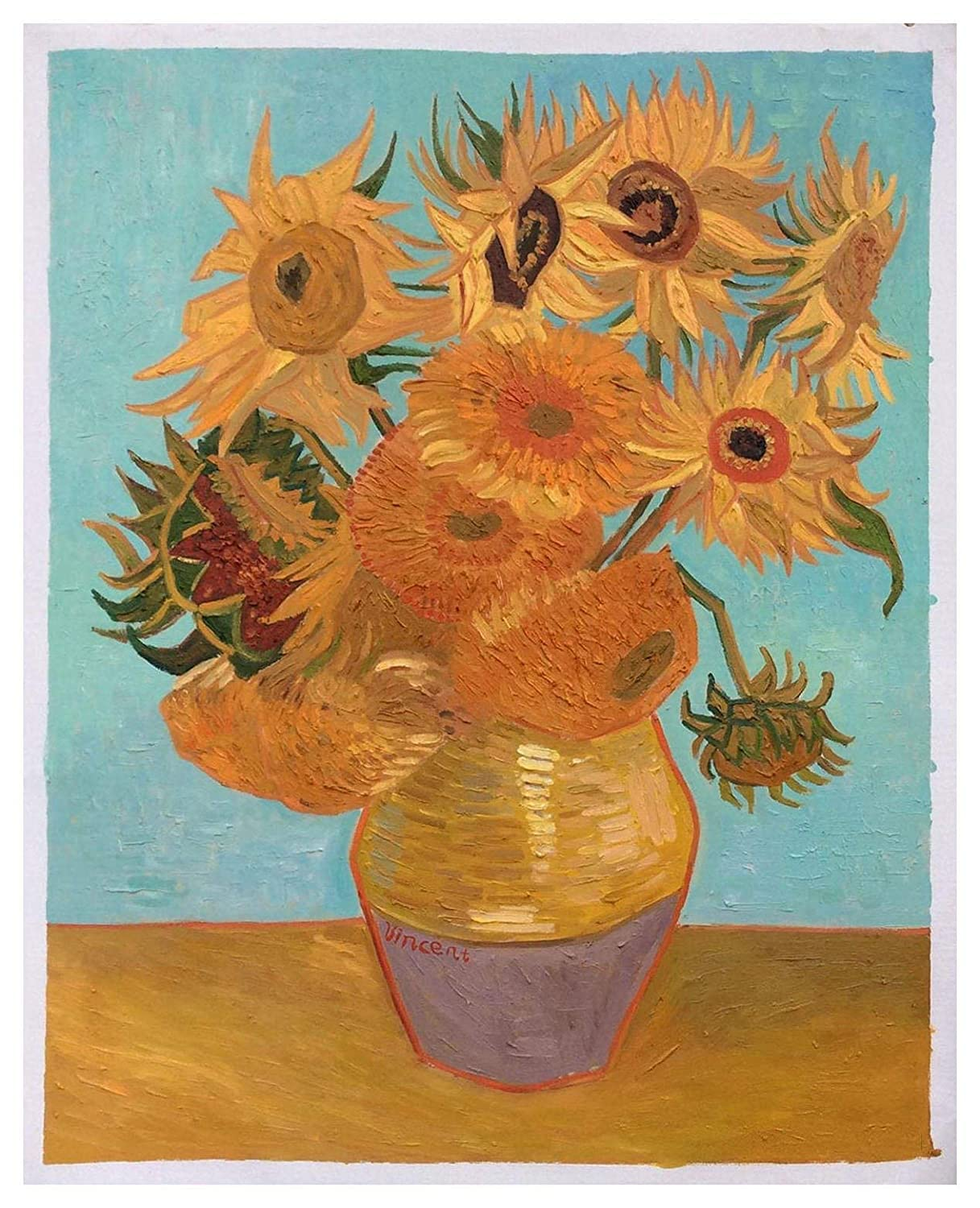 Original oil painting still life Sunflower painting small size