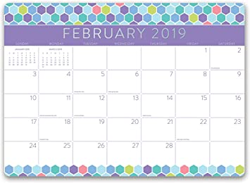 August 2018 December 2019 Bold Blossoms 19052 Orange Circle Studio 2019 Decorative Desk Blotter Calendar