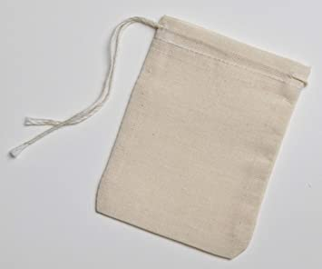 494a6c854d Cotton Muslin Bags 50 Count with Drawstring, Made with 100% Cotton in The  USA