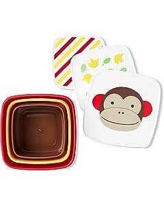 Skip Hop Toddler Food Storage Snack Box Set, Monkey