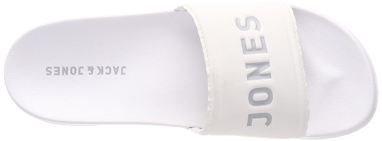 b6f4549e79a23 Jack   Jones Men s Jfwlarry Pool Slider Bright White Closed Toe Sandals   Amazon.co.uk  Shoes   Bags