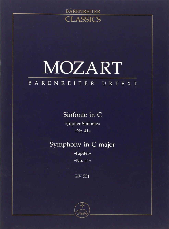 Sinfonie in C Jupiter Sinfonie Nr 41 - Symphony in C major No 41 KV 551 - Poche [Partition] (Allemand) Partition – 1 janvier 2009 Wolfgang Amadeus Mozart Barenreïter B000E5KJW0 Geisteswissenschaften