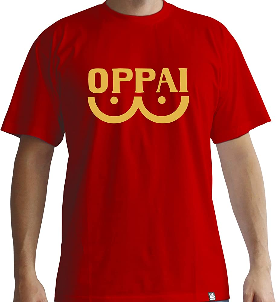 Camiseta One Punch Man OPPAI Talla M, roja: Amazon.es: Ropa y accesorios