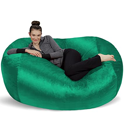 Sofa Sack - Plush Bean Bag Sofas with Super Soft Microsuede Cover - XL Memory Foam Stuffed Lounger Chairs for Kids Adults Couples - Jumbo Bean Bag Chair ...  sc 1 st  Amazon.com : bean bag lounge chair - lorbestier.org