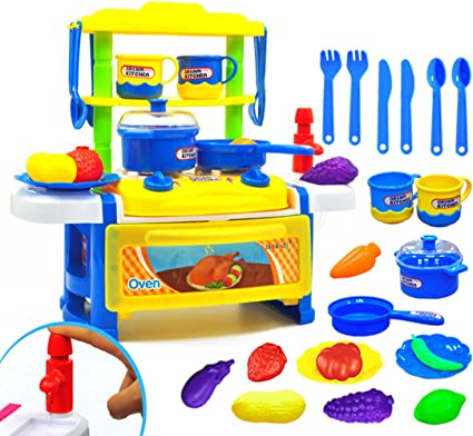 23PCS Cutting Cooking Food Set Educational Kitchen Toy Gift for Children Toddler