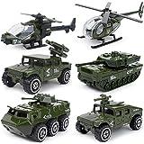 6 Cars in 1 Set Die-cast Metal Playset Toy Vehicle Models