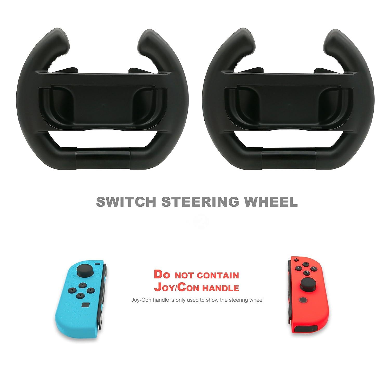 Amazon com: FastSnail Steering Wheel for Joy-con, Steering