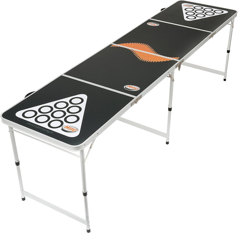Beer Pong Tisch Bier Pong Tisch inkl. 6 Bälle Maße 244x60 cm