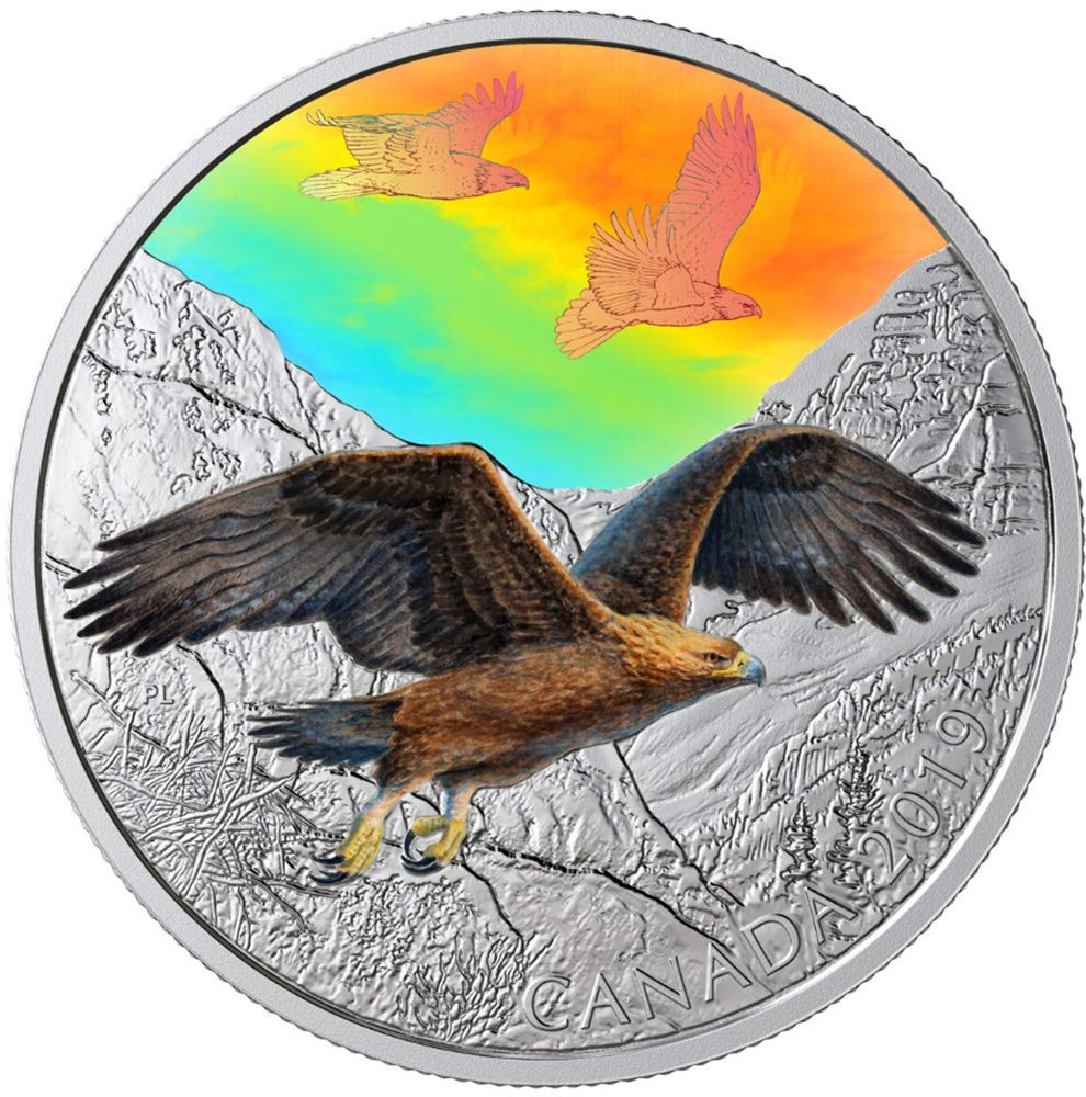 2019 Great Horned Owl Majestic Birds Motion Hologram $30 2OZ Silver Proof Coin
