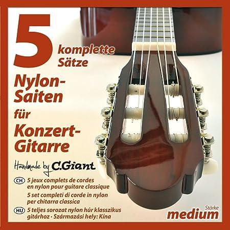 Cuerdas para guitarra de concierto (5 juegos).
