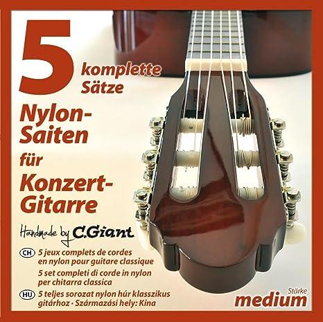 C. GIANT – Guitarra de concierto de registros de cuerdas – 5 ...